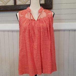 Flowy sleeveless with sheer detail NWT
